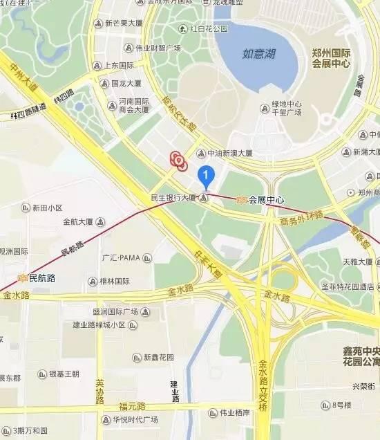 郑州郑东新区工商局地图位置