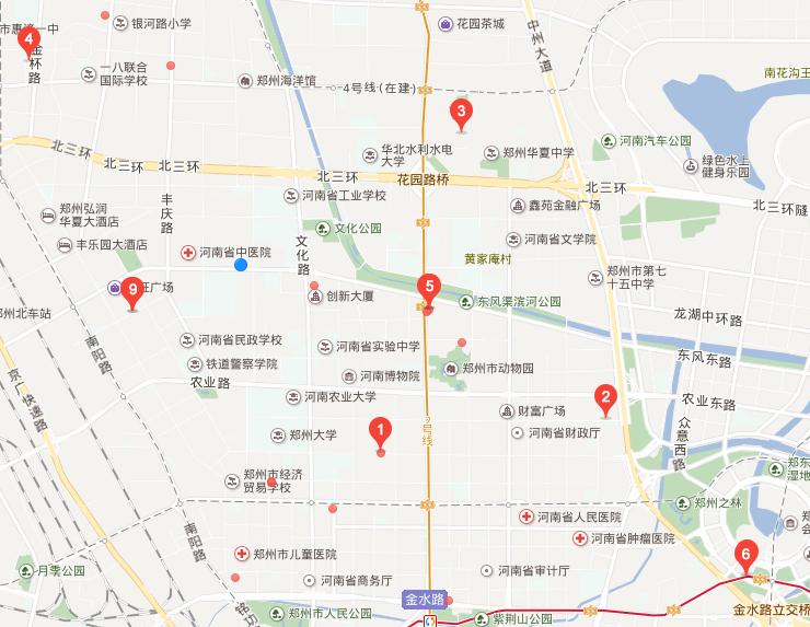 金水区工商所地图标注