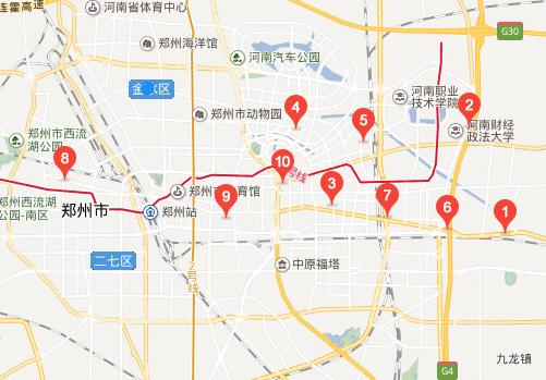 郑东新区工商所地图标注